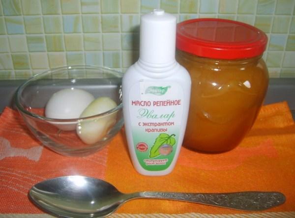 Мед кефир яйцо маска для волос
