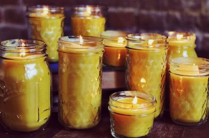homemade-beeswax-scented-candles
